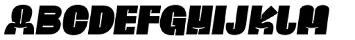 Ria Black Italic Font UPPERCASE
