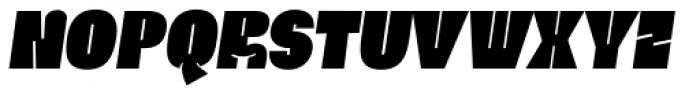 Ria Black Italic Font LOWERCASE