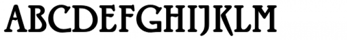 Rialto Regular Font UPPERCASE