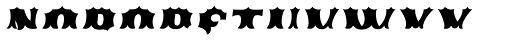 Ribfest Fill T Regular Italic Font UPPERCASE