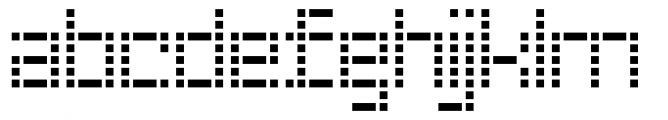 Riblah Regular Font LOWERCASE