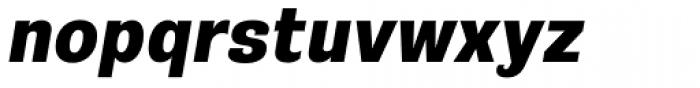 Riccia Heavy Italic Font LOWERCASE