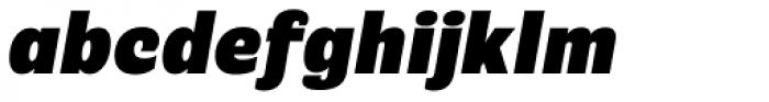 Riccia Ultrabold Italic Font LOWERCASE