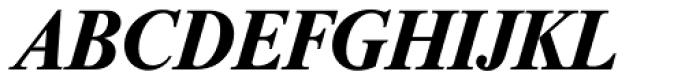 Riccione Serial Bold Italic Font UPPERCASE