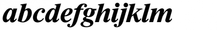 Riccione Serial Bold Italic Font LOWERCASE