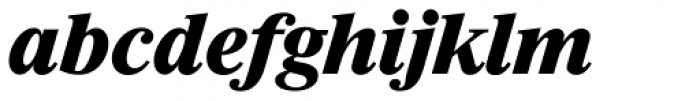 Riccione Serial ExtraBold Italic Font LOWERCASE