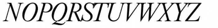 Riccione Serial ExtraLight Italic Font UPPERCASE