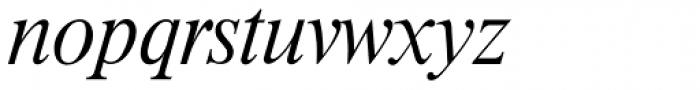 Riccione Serial ExtraLight Italic Font LOWERCASE