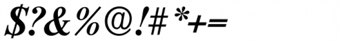 Riccione Serial Medium Italic Font OTHER CHARS