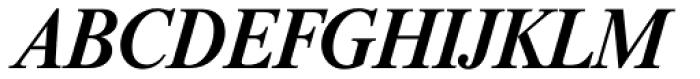 Riccione Serial Medium Italic Font UPPERCASE