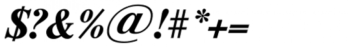 Riccione TS DemiBold Italic Font OTHER CHARS