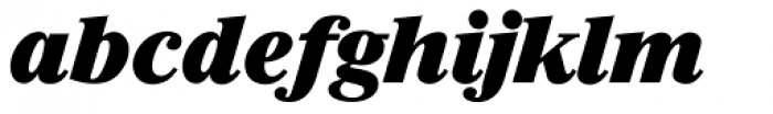 Riccione TS ExtraBold Italic Font LOWERCASE