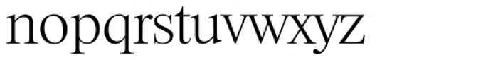 Riccione TS ExtraLight Font LOWERCASE