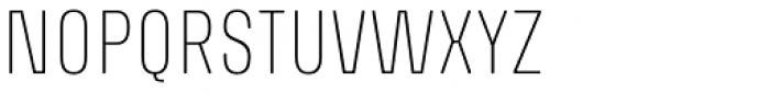 Richard Miller Rounded UltraLight Font LOWERCASE