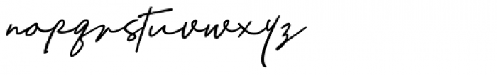 Richland Regular Font LOWERCASE