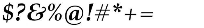 Richler Cyrillic Bold Italic Font OTHER CHARS