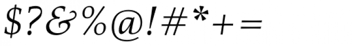Richler Cyrillic Italic Font OTHER CHARS
