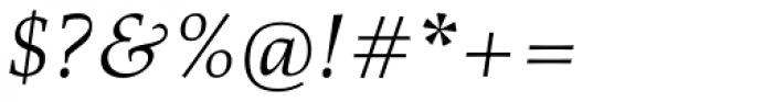Richler Greek Pro Italic Font OTHER CHARS