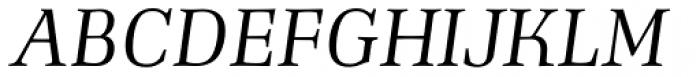 Richler Italic Font UPPERCASE