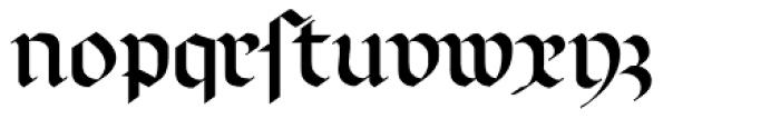Richmond Fraktur DFR Font LOWERCASE