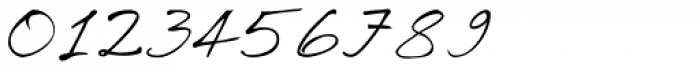 Ricks Relaxed Hand Italic Font OTHER CHARS