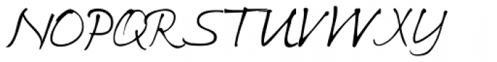 Ricks Relaxed Hand Italic Font UPPERCASE