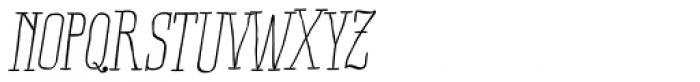 Ride my Bike Serif Essential Italic Font UPPERCASE