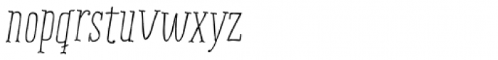 Ride my Bike Serif Essential Italic Font LOWERCASE