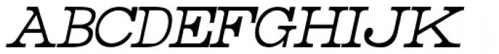 Rider Condensed Light Italic Font UPPERCASE
