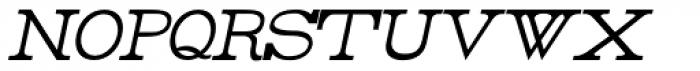 Rider Condensed Light Italic Font LOWERCASE