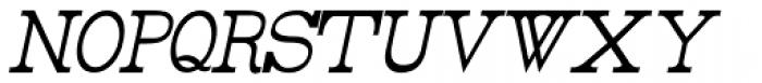 Rider Tall UltraCondensed Light Italic Font UPPERCASE