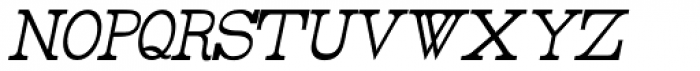 Rider Tall UltraCondensed Light Italic Font LOWERCASE