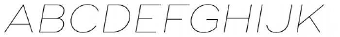 Ridley Grotesk Thin Italic Font UPPERCASE