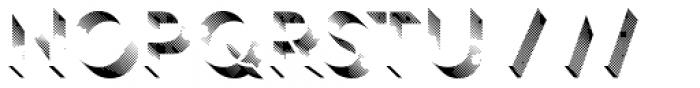 Rig Shaded Light Shading Coarse Font UPPERCASE