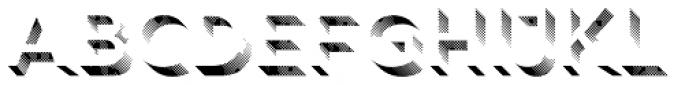 Rig Shaded Medium Shaded Coarse Font LOWERCASE