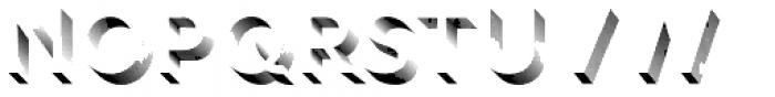 Rig Shaded Medium Shaded Fine Font LOWERCASE