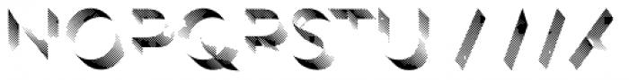 Rig Shaded Zero Shading Coarse Font UPPERCASE