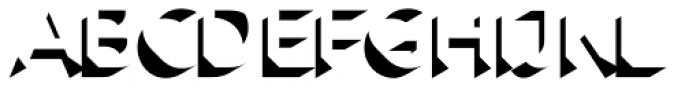Rig Shaded Zero Shadow Font LOWERCASE