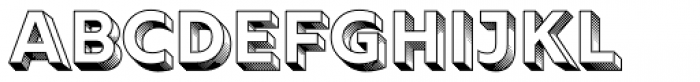 Rig Solid Bold Halftone Font LOWERCASE