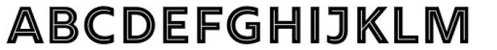 Rig Solid Bold Inline Solo Font UPPERCASE