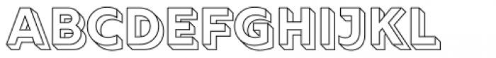 Rig Solid Bold Outline Font UPPERCASE