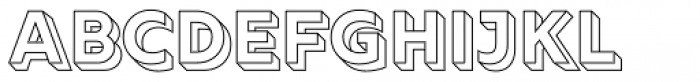 Rig Solid Bold Outline Font LOWERCASE