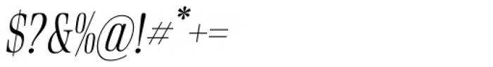 Rigatoni Light Italic Font OTHER CHARS