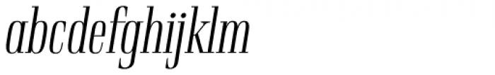 Rigatoni Light Italic Font LOWERCASE
