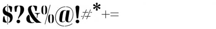 Rigatoni Stencil Extra Bold Font OTHER CHARS