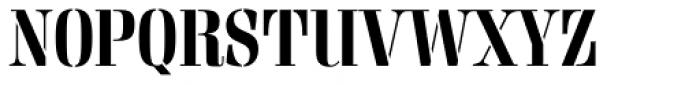 Rigatoni Stencil Extra Bold Font UPPERCASE
