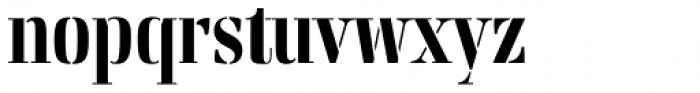 Rigatoni Stencil Extra Bold Font LOWERCASE