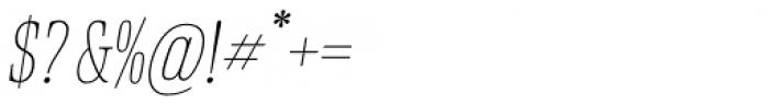 Rigatoni Thin Italic Font OTHER CHARS