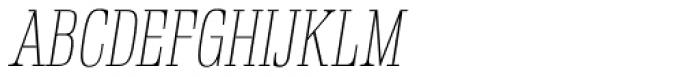 Rigatoni Thin Italic Font UPPERCASE