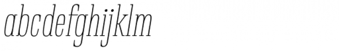 Rigatoni Thin Italic Font LOWERCASE